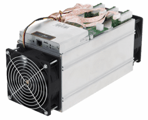 A BITMAIN Antminer S9, popular for Cryptocurrency Mining